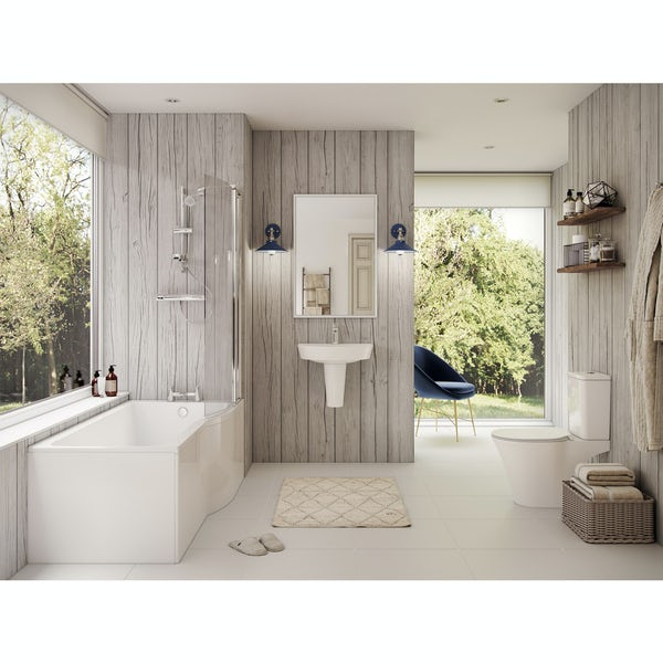 Ideal Standard Concept Air complete right hand shower bath suite 1700 x 800