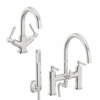 Secta Basin and Bath Shower Mixer Pack