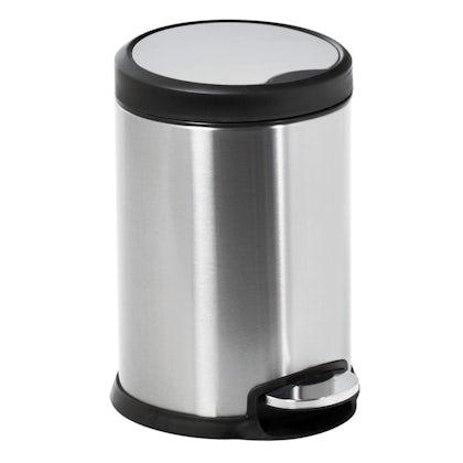 Showerdrape Aero stainless steel satin 5lt pedal bin
