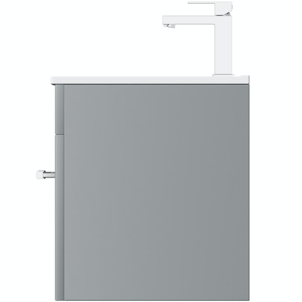Orchard Derwent grey wall hung drawer unit and basin 600mm