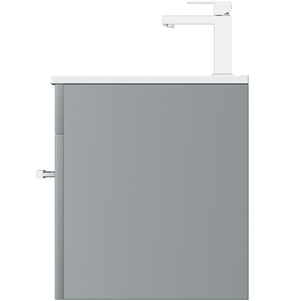 Orchard Derwent stone grey wall hung vanity unit and mirror 600mm