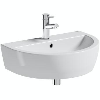 Mode Tate 1 tap hole wall hung basin 550mm