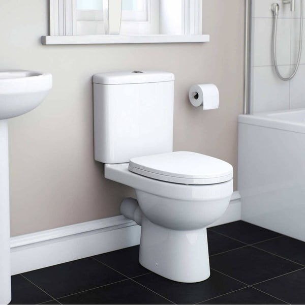 Eden Bathroom Suite with right handed L shaped shower bath 1700 x 850