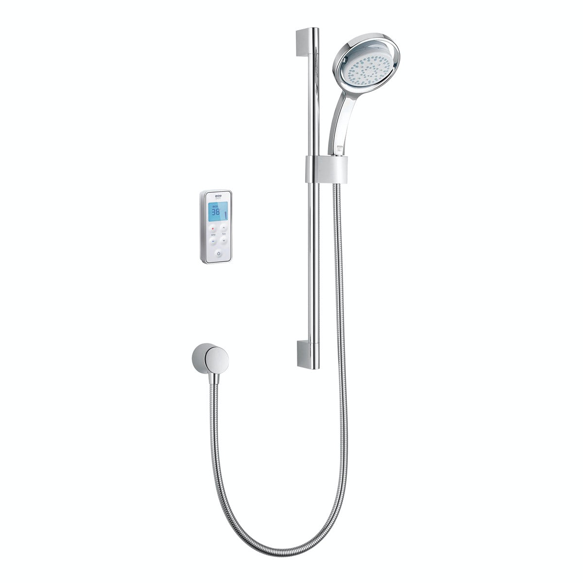 Mira Vision rear fed digital shower pumped