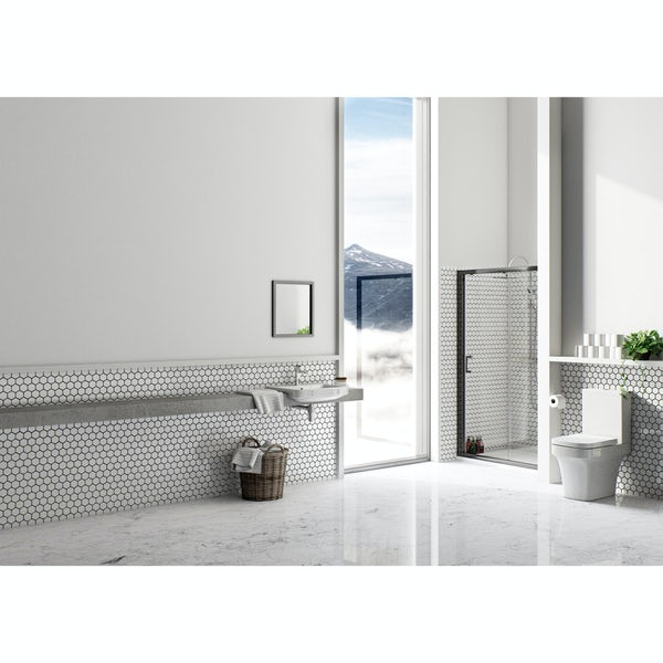 Mode Carter close coupled toilet inc soft close seat