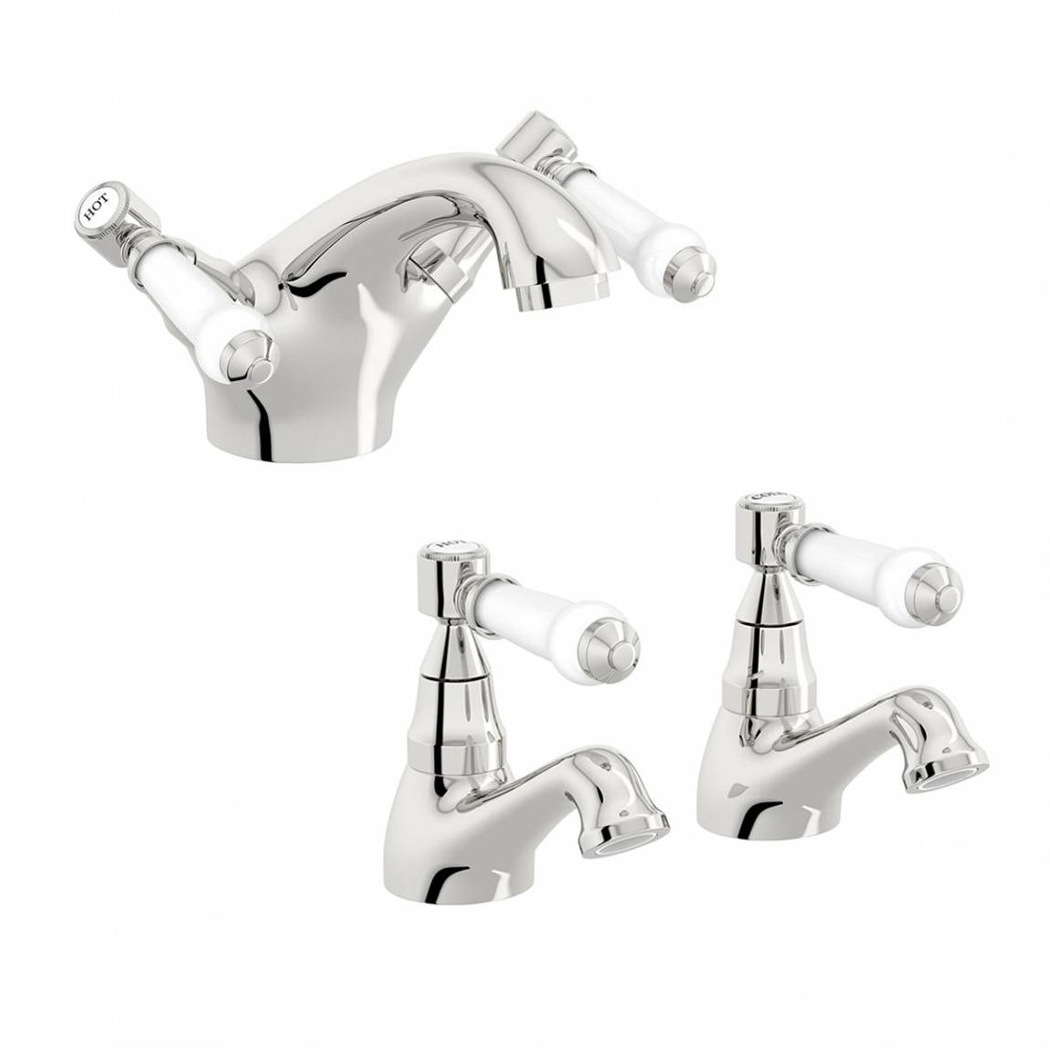 The Bath Co. Winchester basin and bath mixer tap pack
