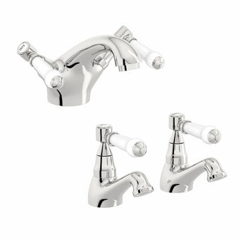 Antonio Basin Mixer and Bath Tap Pack