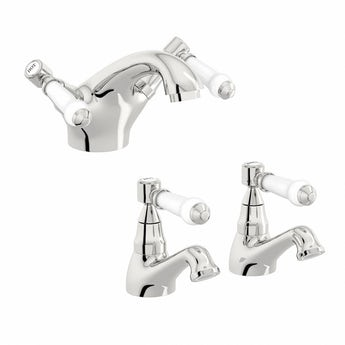 Antonio basin and bath mixer tap pack