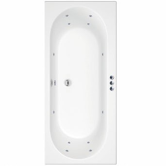 Islington 1800 x 800 Double End Whirlpool Bath + Waste