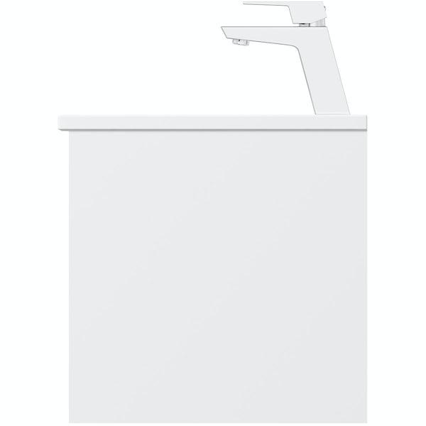 Mode Austin white wall mounted unit and stone basin 600mm
