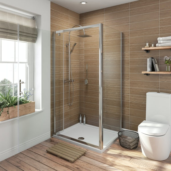Orchard 6mm rectangular pivot shower enclosure
