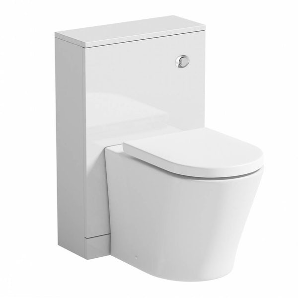 Mode Arte back to wall toilet and unit with full pedestal basin suite 550mm