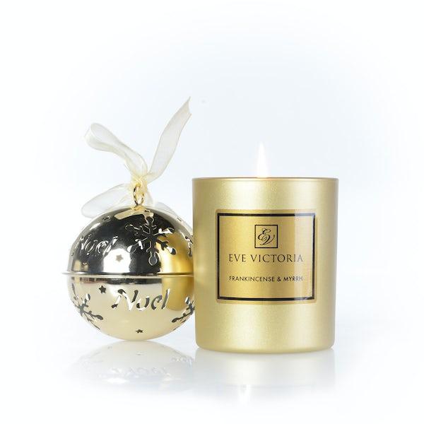 Eve Victoria Frankincense & myrrh candle, tea lights and diffuser set