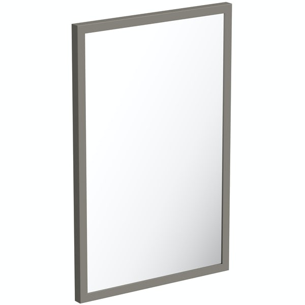 Mode Hale greystone matt mirror 500 x 800mm