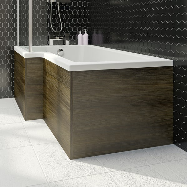 Wye walnut boston square shower bath end panel