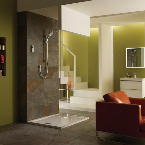 Mira Vision rear fed digital shower pumped