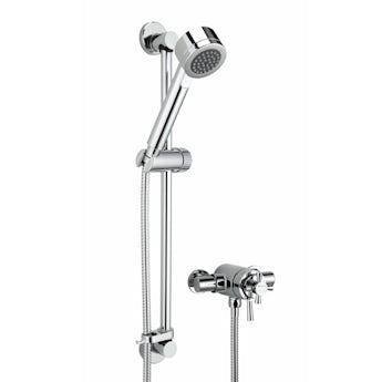 Bristan Rio concentric thermostatic shower valve with slider rail kit