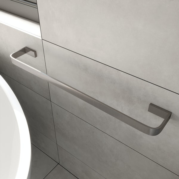 Mode Spencer brushed nickel single towel rail 600mm
