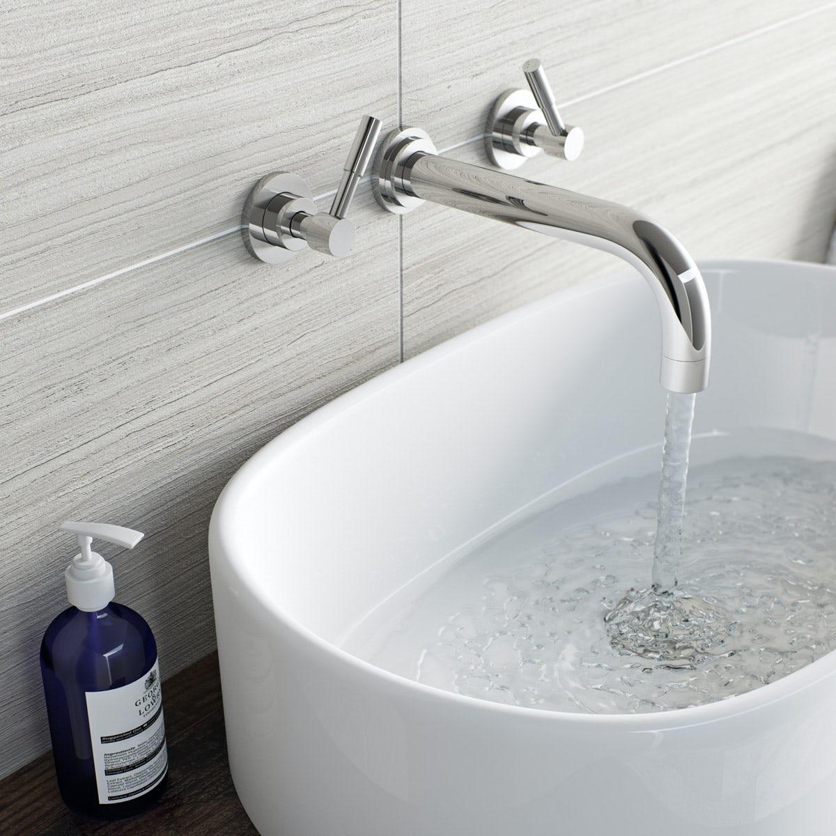 Mode Harrison wall mounted basin mixer tap| VictoriaPlum.com