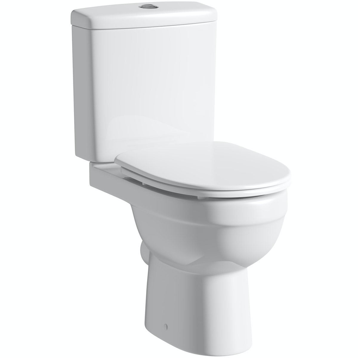 Orchard Eden close coupled toilet with luxury soft close seat with pan connector