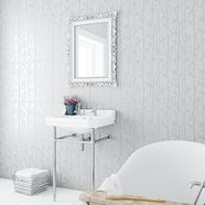 Laura Ashley white cottonwood feature satin wall tile 248mm x 498mm