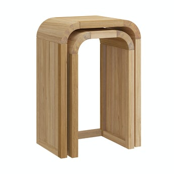 Reeves Oscar oak nest of tall tables