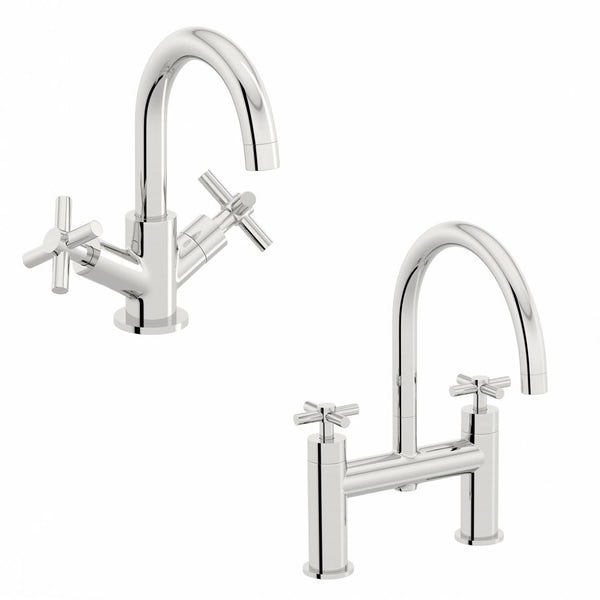 Tate Basin and Bath Mixer Pack
