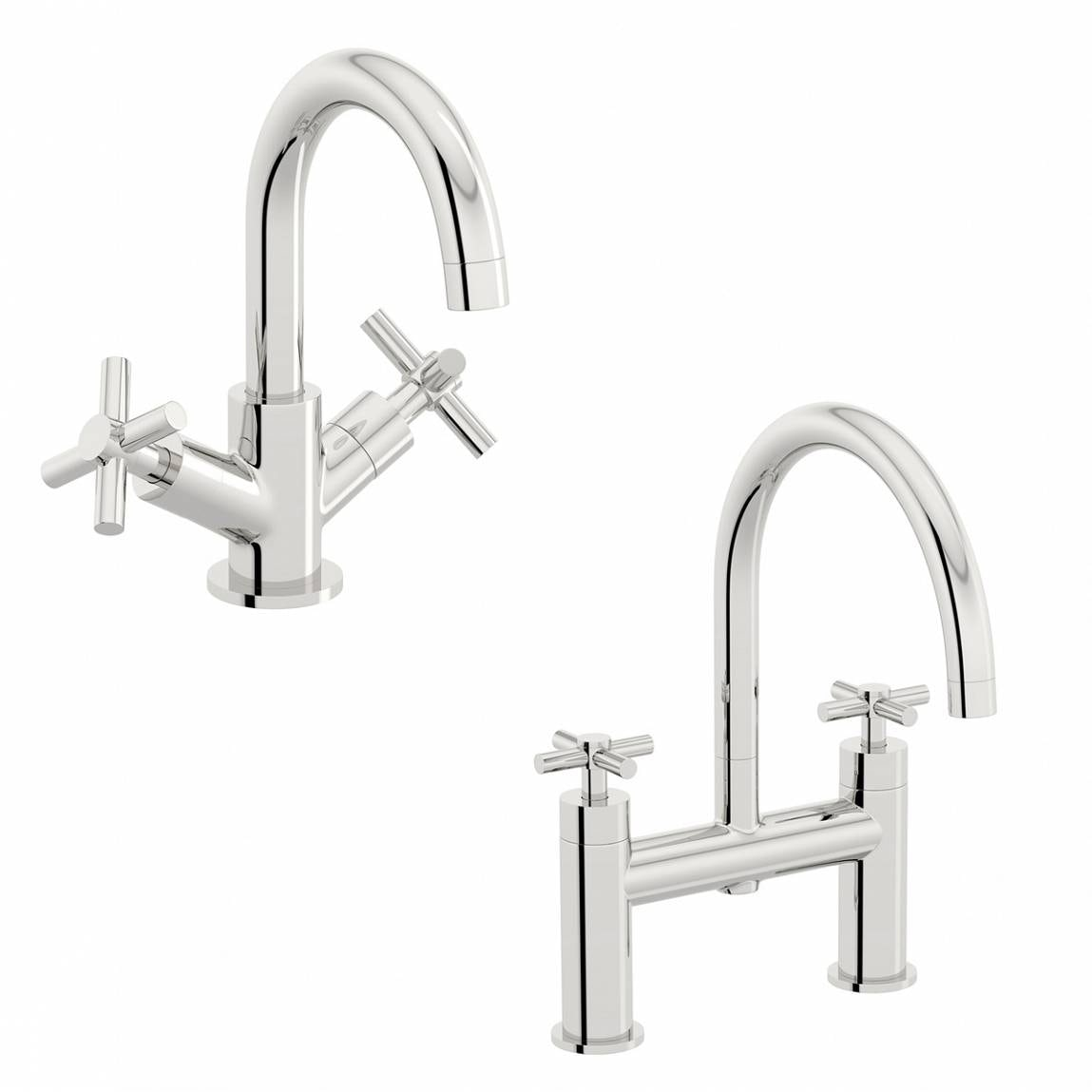 Mode Tate basin and bath mixer tap pack