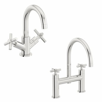 Mode Alexa basin and bath mixer tap pack