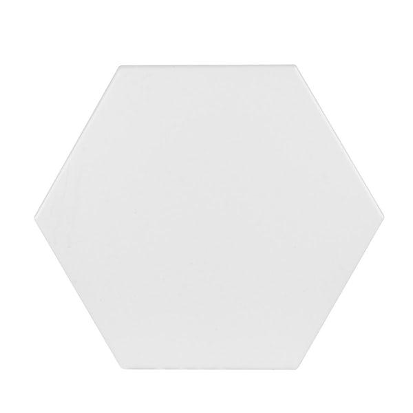 British Ceramic Tile Hex white matt tile 175mm x 202mm
