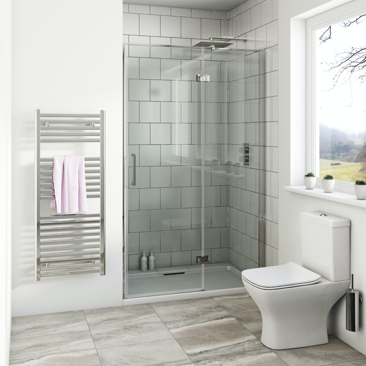 Mode Beck premium 8mm hinged easy clean shower door