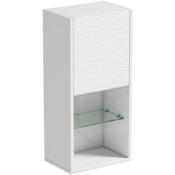 Mode Banks textured matt white wall storage unit 330mm