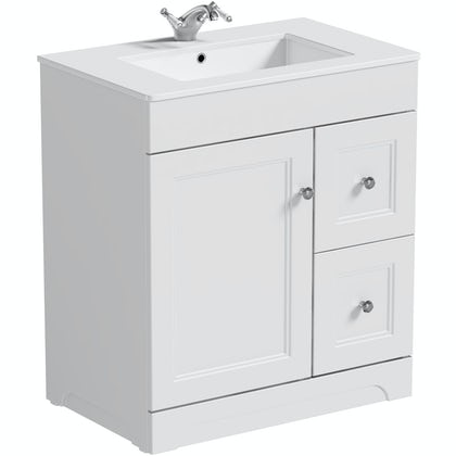 The Bath Co. Winchester white  vanity unit and basin 800mm
