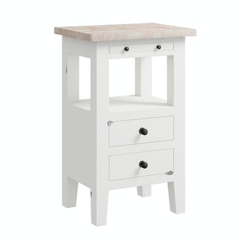 Reeves Austin white side table