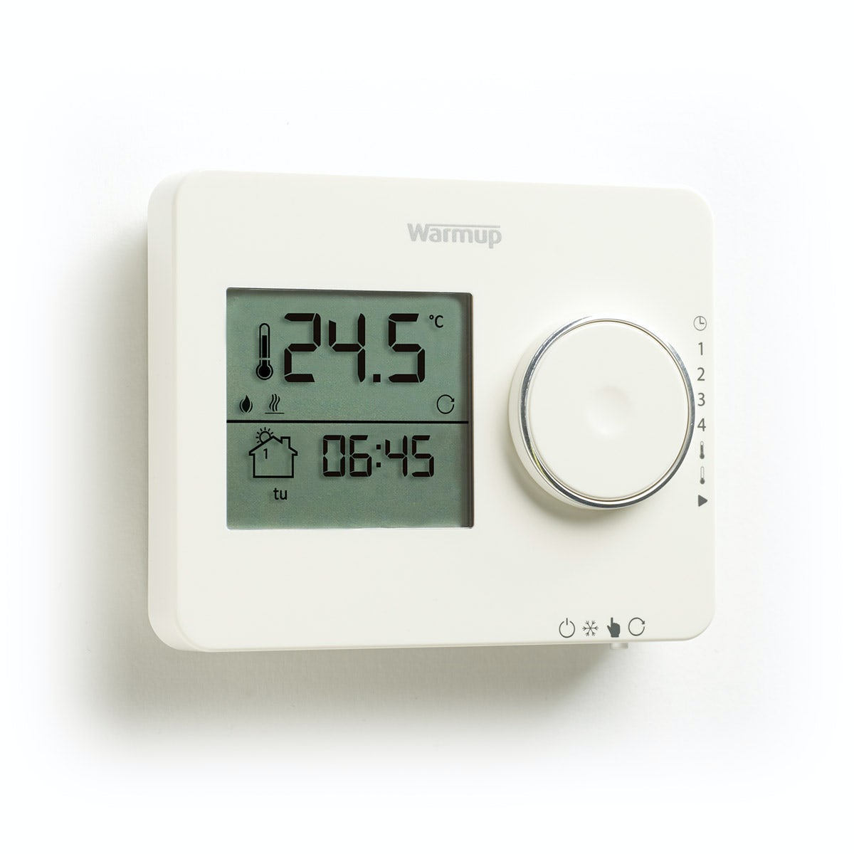 Warmup Tempo underfloor heating thermostat porcelain white