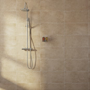 Canvas toffee beige matt tile 298mm x 598mm