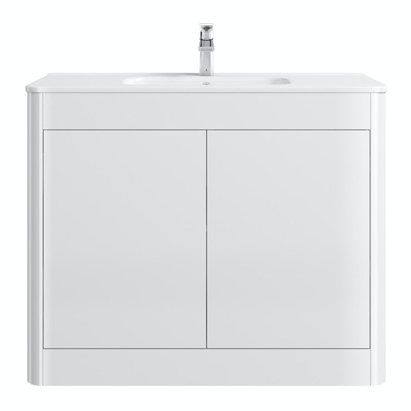 Carter ice white 1000 floor mounted vanity unit with basin
