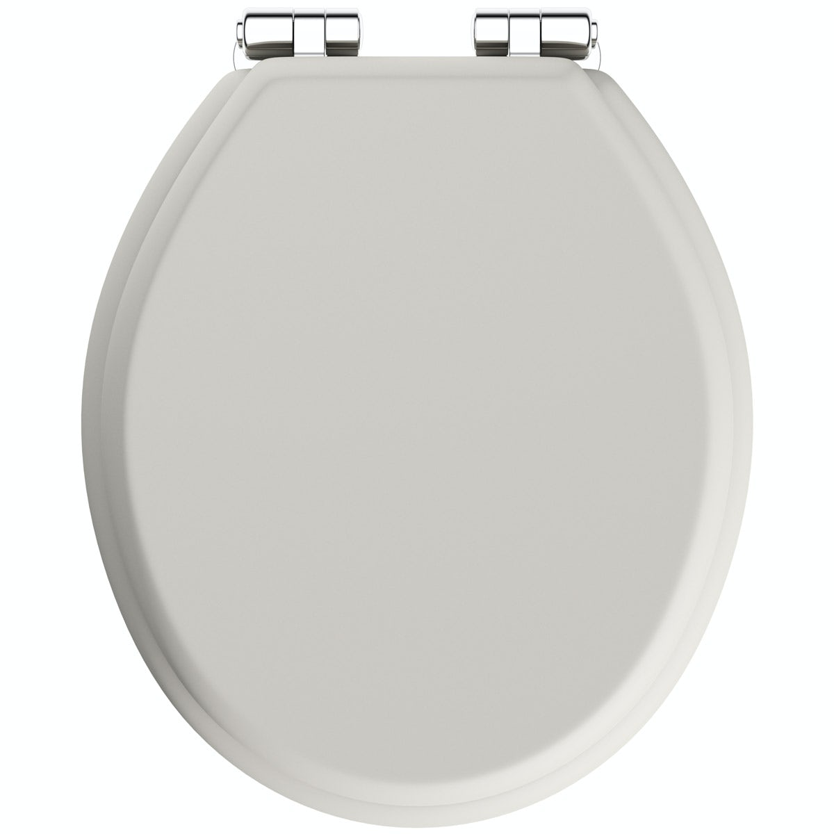 The Bath Co. traditional Dulwich ivory engineered wood toilet seat with top fixing soft close hinge