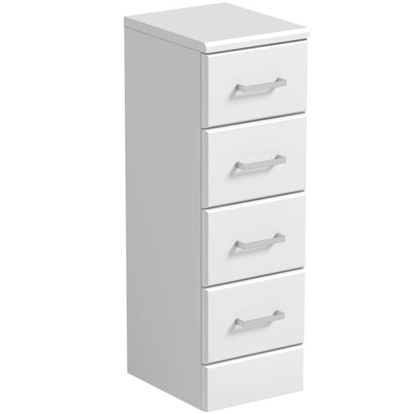 Eden white multi drawer unit 300mm