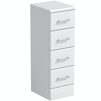 Eden white multi drawer unit 300mm
