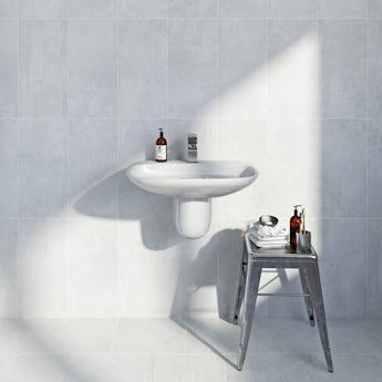 Metropolis light grey matt tile 248mm x 498mm