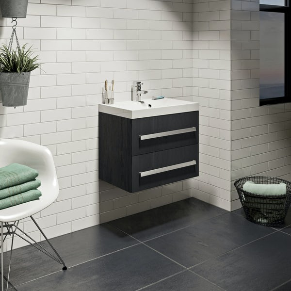 Wye essen wall hung vanity unit 600mm with basin
