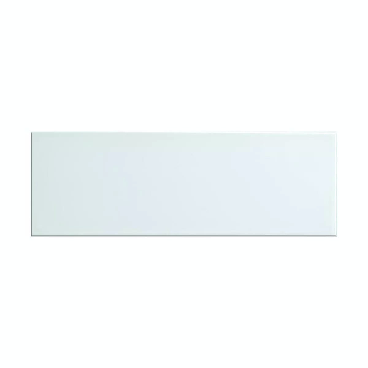 British Ceramic Tile glass whisper white gloss tile 148mm x 448mm - Box of 5