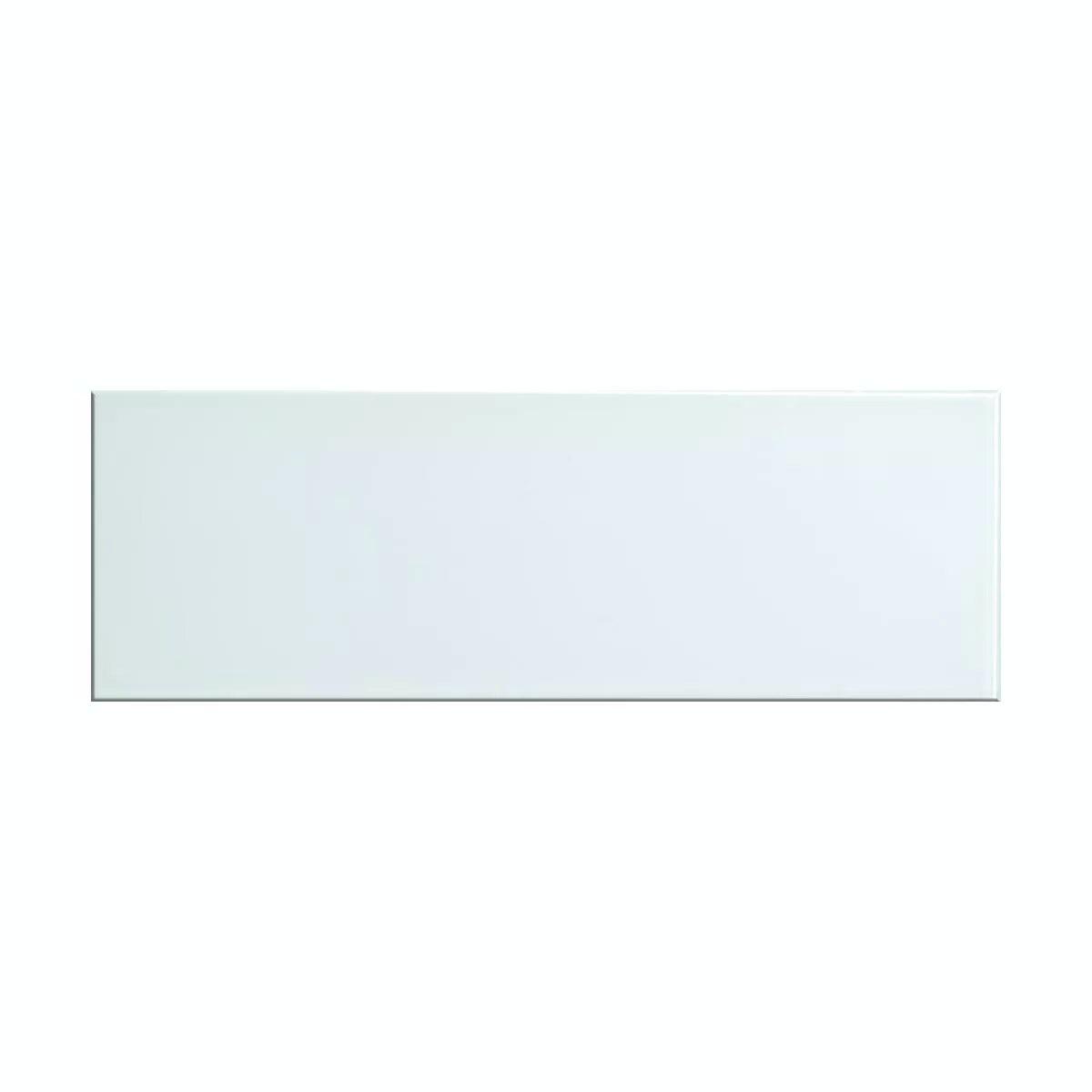 British Ceramic Tile glass whisper white gloss tile 148mm x 448mm - Box of 5