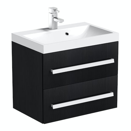 Wye essen 600 wall hung vanity unit with basin