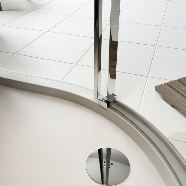 Mode Foster stainless steel quadrant shower enclosure 900 x 900