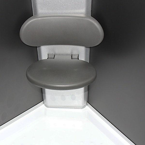 Insignia anthracite grey backed quadrant hydro-massage shower cabin 900 x 900