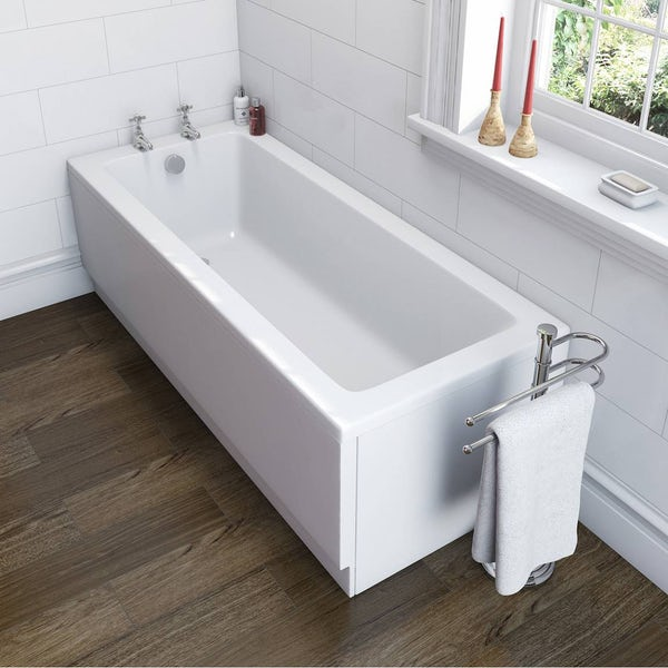 Winchester Bathroom Set with straight 1700 x 700 Bath Suite
