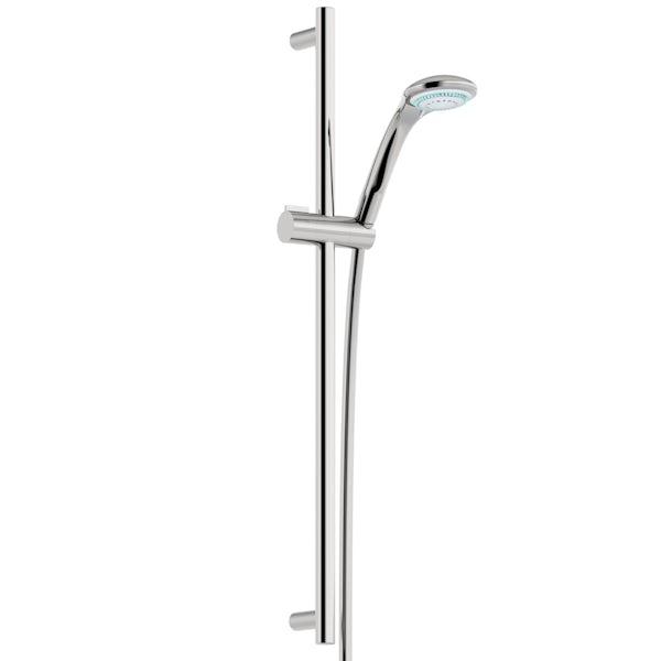 Claritysingle lever bath shower mixer tap with slider rail