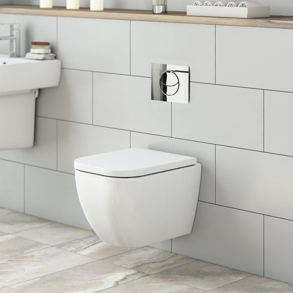 Mode Ellis wall hung toilet inc soft close seat